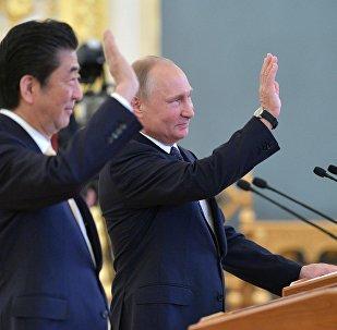 Shinzo Abe et Vladimir Poutine