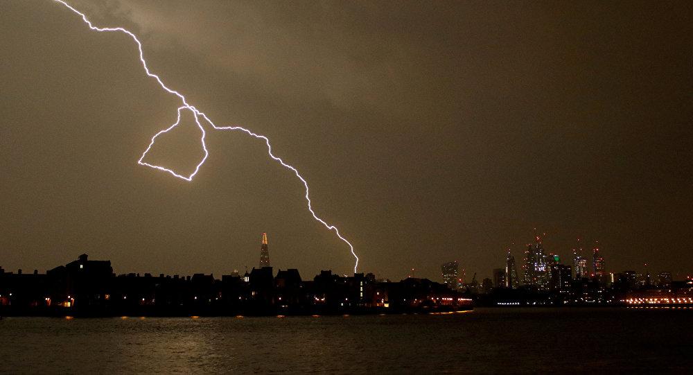 Orage à Londres