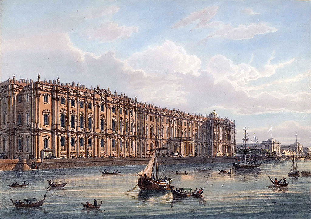 Le palais d'Hiver au XIXe siècle