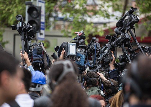 Des journalistes (image d'illustration)