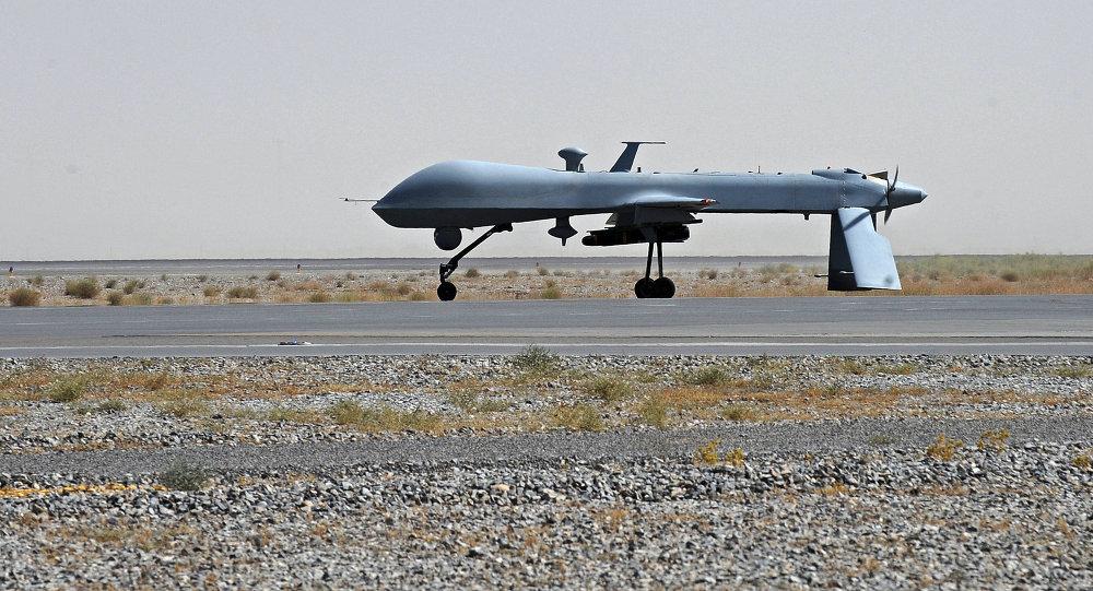 Un drone américain Predator doté d'un missile