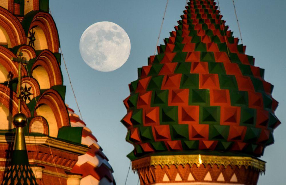 La pleine lune à Moscou et dans sa région