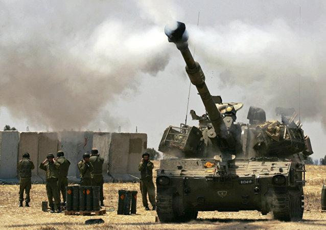 Un char israélien près de la bande de Gaza