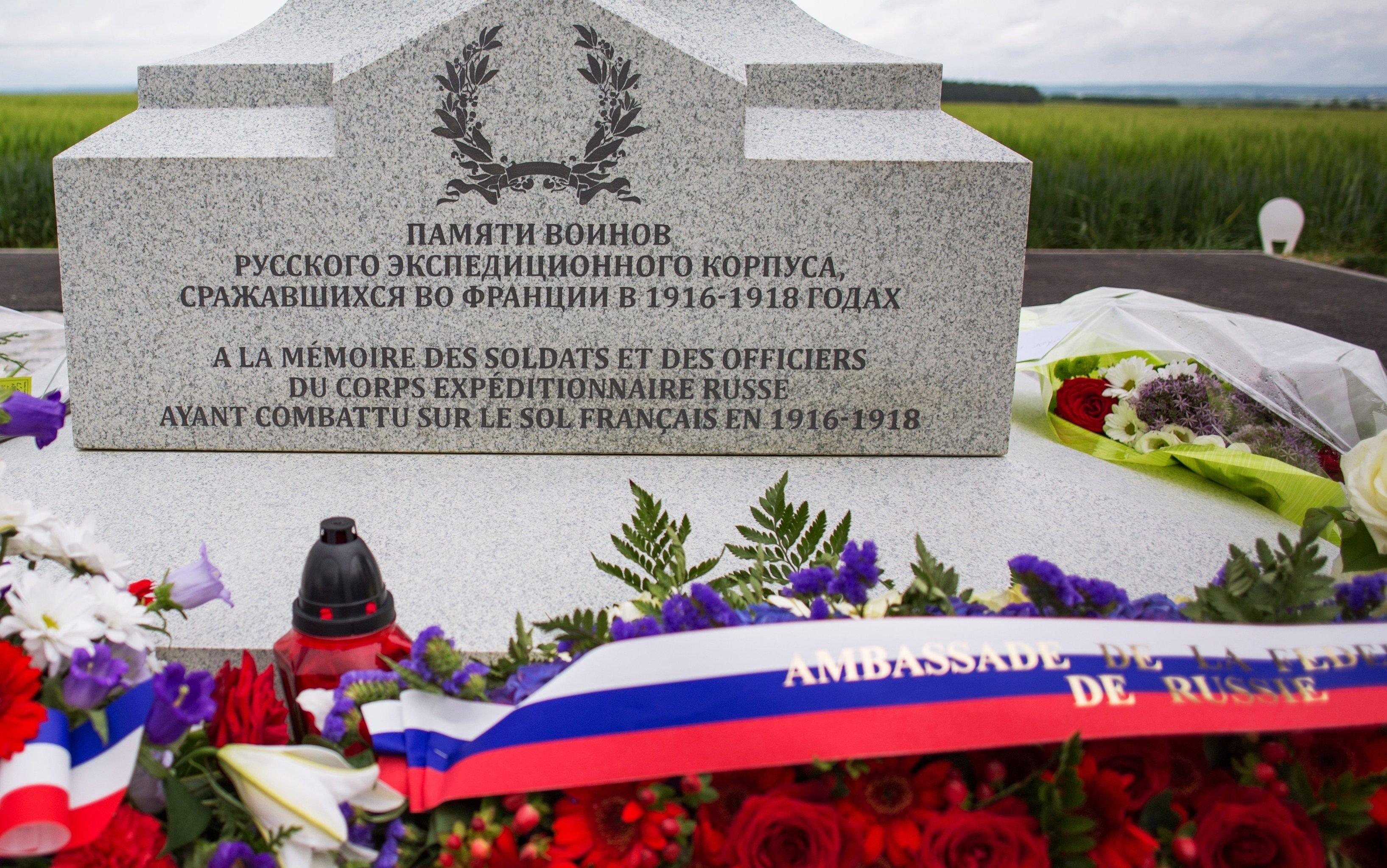 Un monument en mémoire des soldats russes morts en 1917