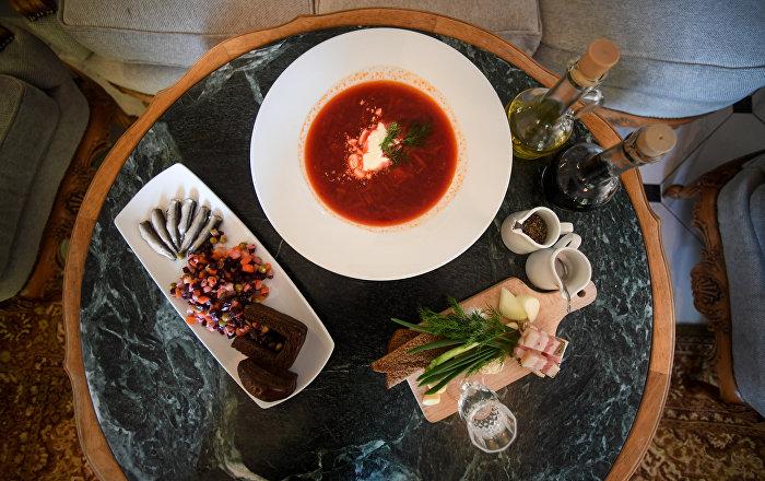 Блюда ресторана Чайковский в Калининграде