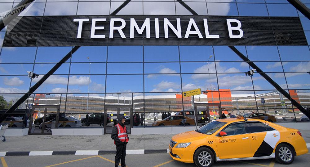 l'aéroport Cheremetievo de Moscou