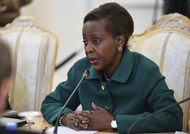 Louise Mushikiwabo, la ministre des affaires étrangères du Rwanda. Photo d'archive