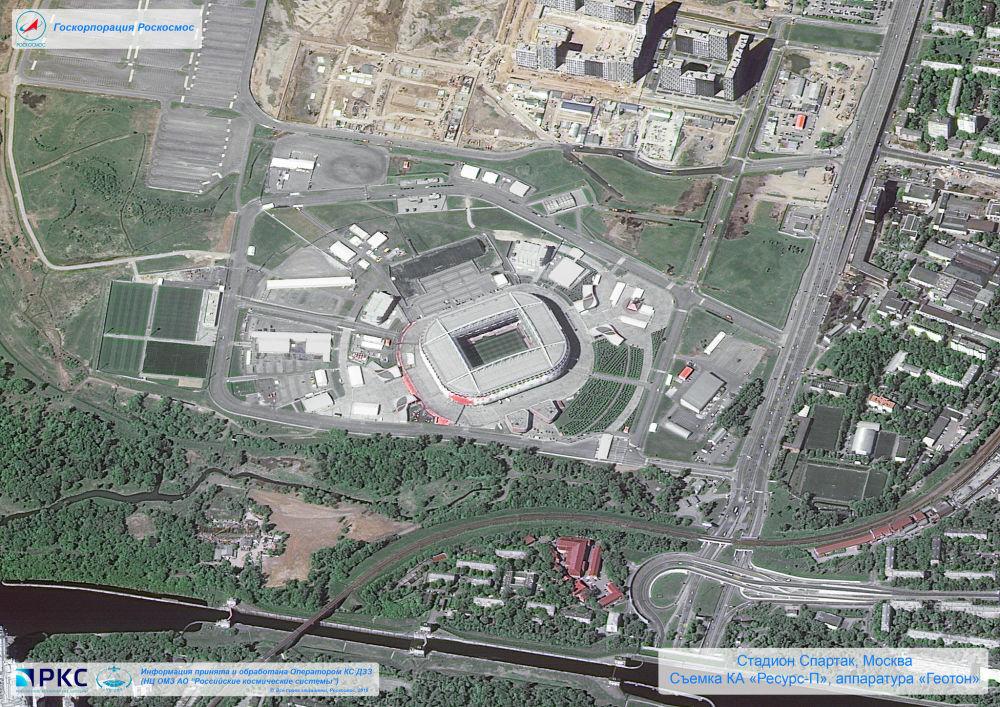 Les stades de la Coupe du Monde de la FIFA 2018 vus de l'espace