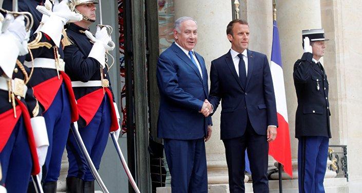 Emmanuel Macron et Benjamin Netanyahu