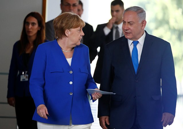 Angela Merkel et Benjamin Netanyahu