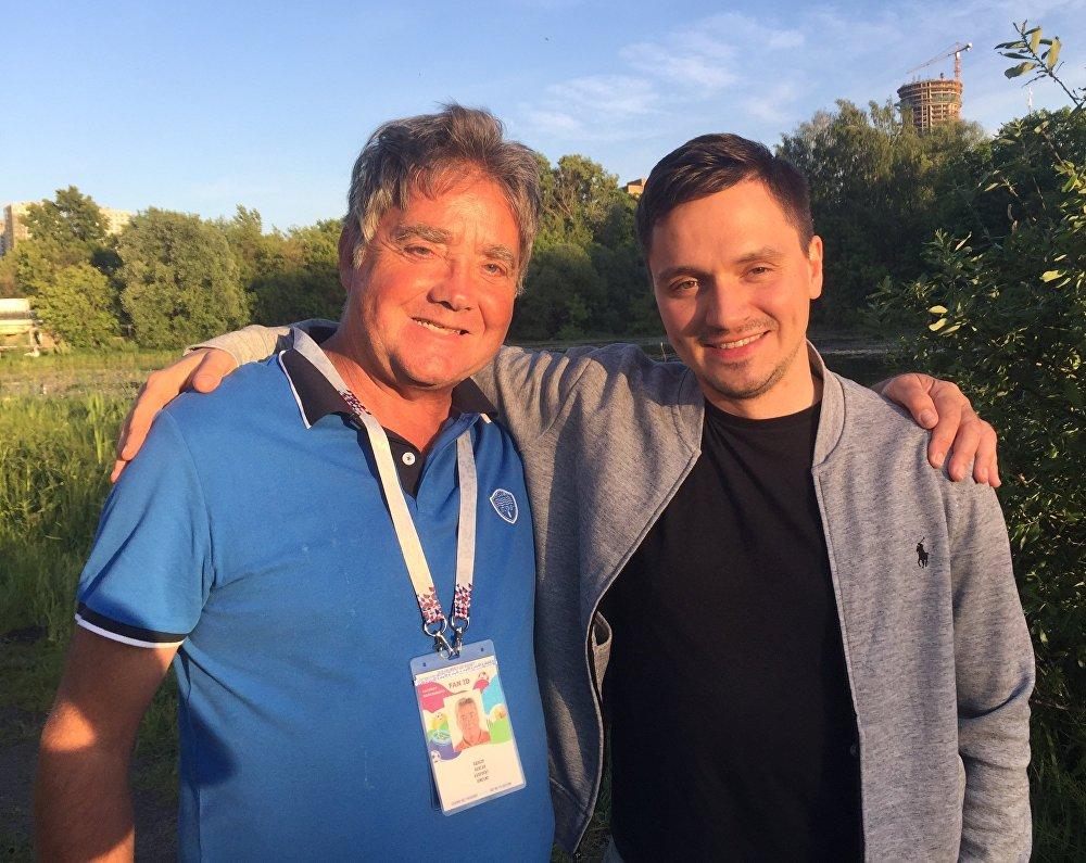 Vincent Audebert avec son beau-fils