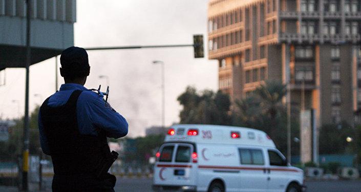 Un policier irakien à Bagdad