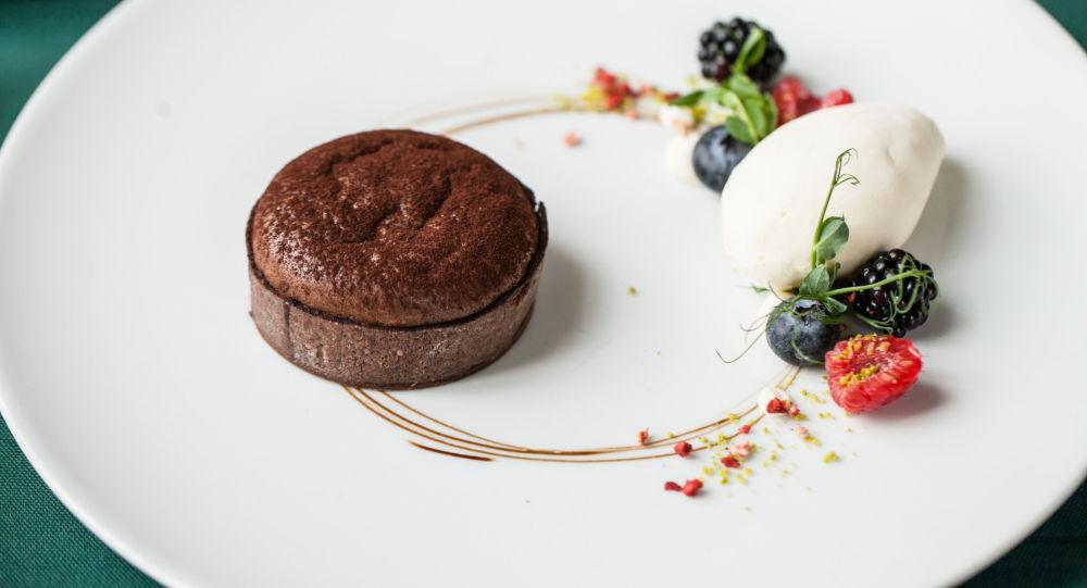 Gâteau au chocolat du restaurant russe, le Café Pouchkine