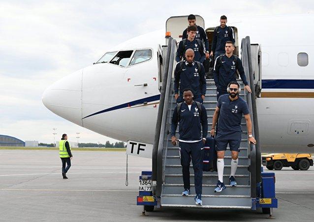 Les Bleus arrivent à Moscou