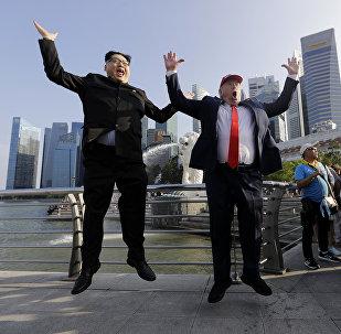 Sosies de Kim Jong-un et Donald Trump