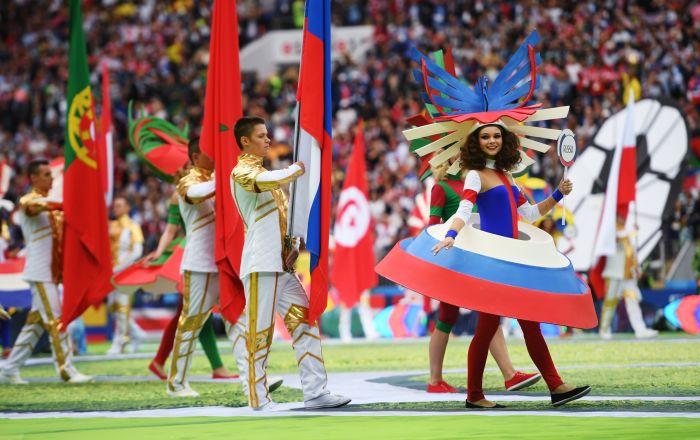 La cérémonie d'ouverture de la Coupe du Monde a commencé à 17h30, heure de Moscou, dans le stade Loujniki.