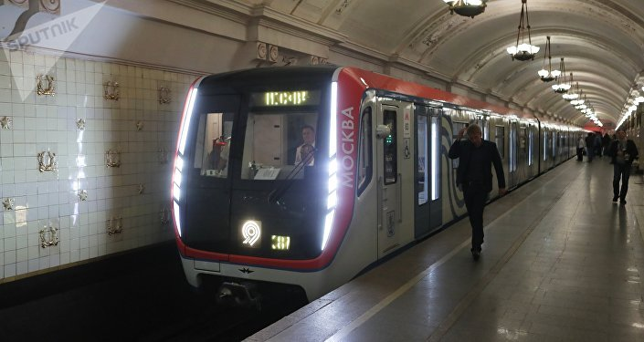 La rame Moskva dans le métro de Moscou