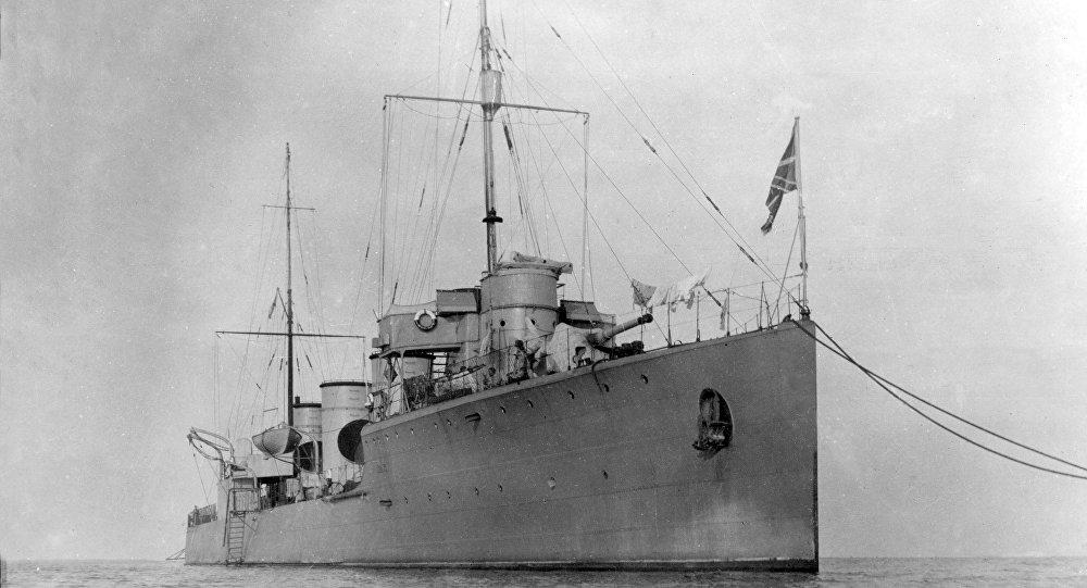 Le destroyer russe Novik
