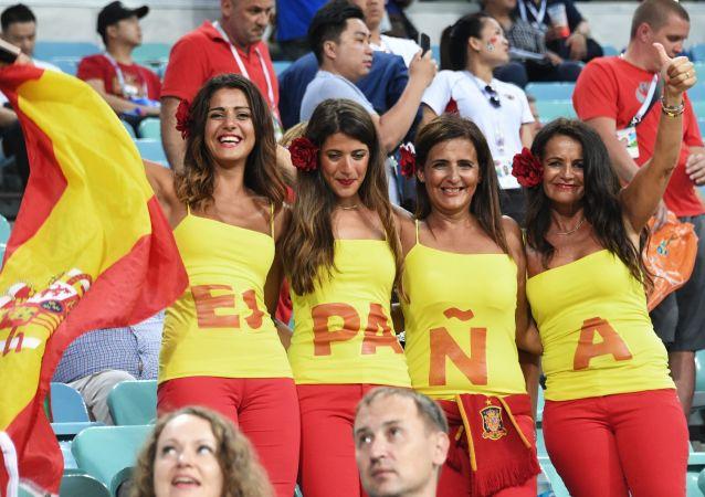 Des supportrices espagnoles