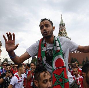 Les fans de football de la Coupe du Monde 2018 à Moscou