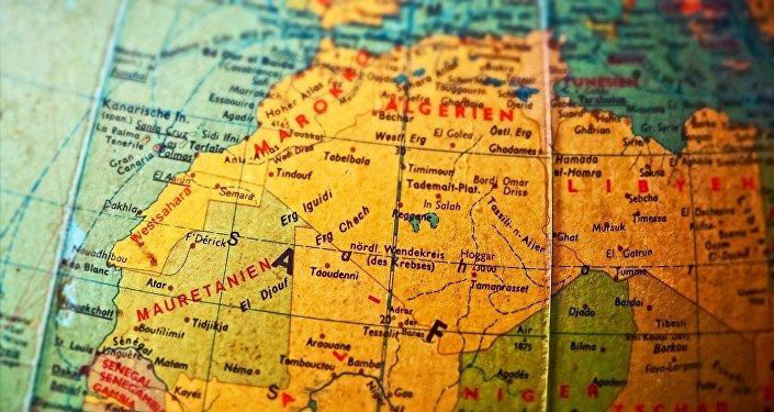 Carte de l'Afrique du nord