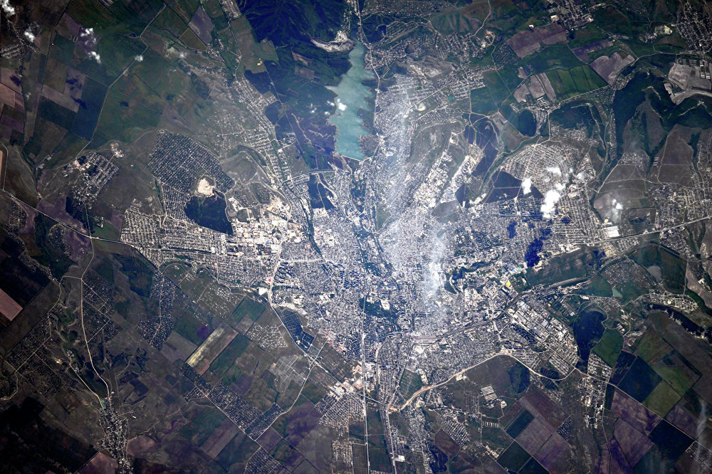 Крым из космоса. Симферополь