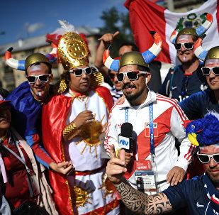 Supporteurs français et péruviens