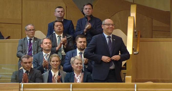 Le président du parlement ukrainien Andreï Paroubi