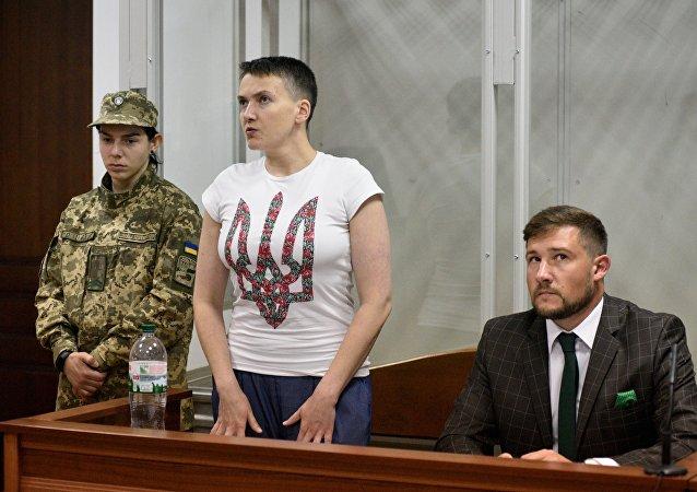 Nadejda Savtchenko pendant les audiences