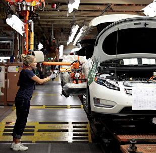 Une usine de General Motors à Detroit