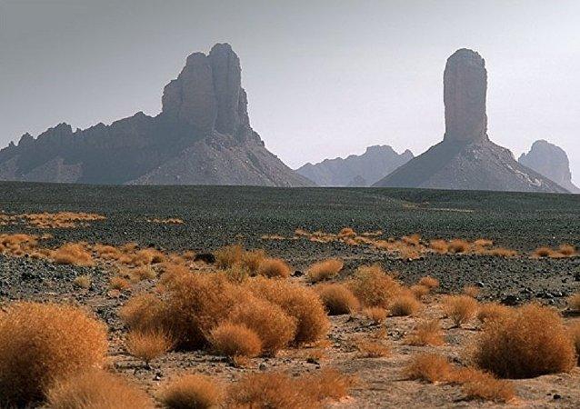Plateau de l'Assekrem, dans l'extrême sud de l'Algérie. Image d'illustration