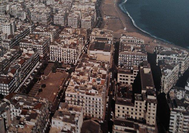 Vue aérienne du quartier de Bab El Oued à Alger