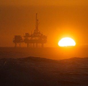 Production de pétrole. Image d'illustration