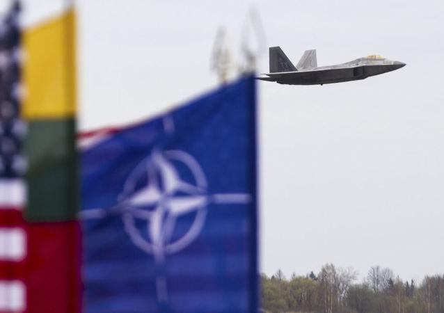 Un F-22 US en Lituanie