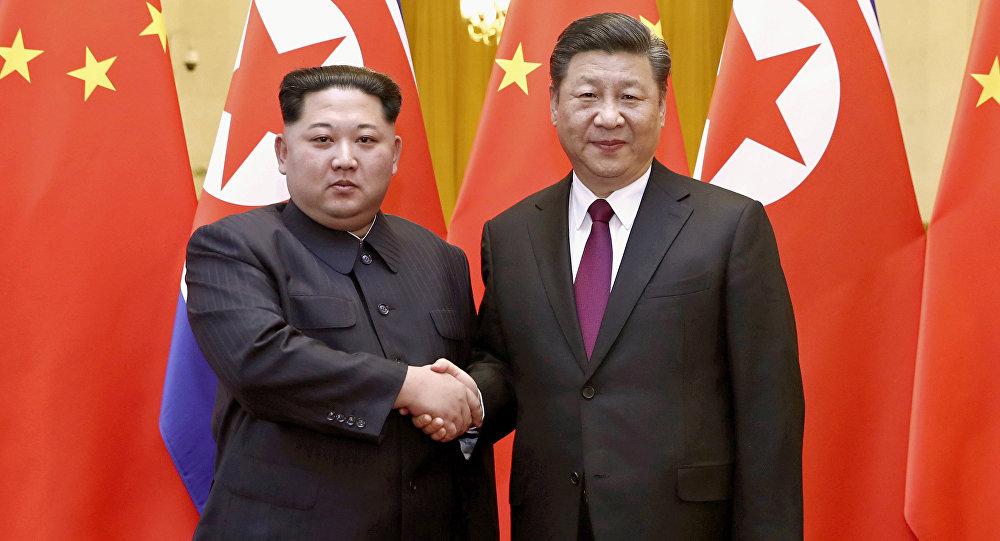 Kim Jong Un et Xi Jingping