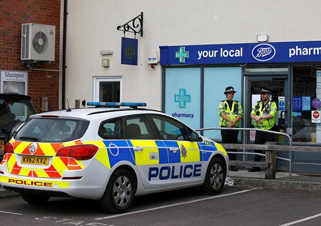 La police britannique à Amesbury