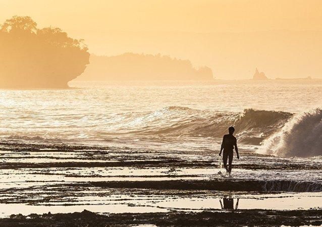 Une plage de Java
