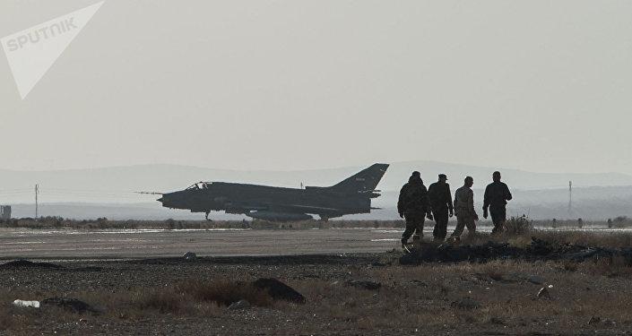 Base aérienne dans la province syrienne de Homs