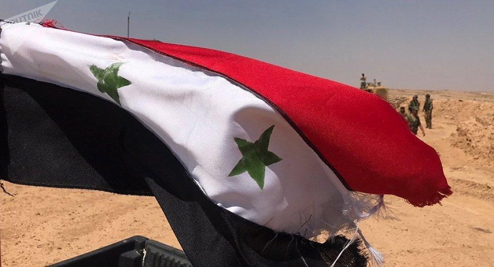Les troupes syriennes à la frontière de la Jordanie, dans la province de Deraa