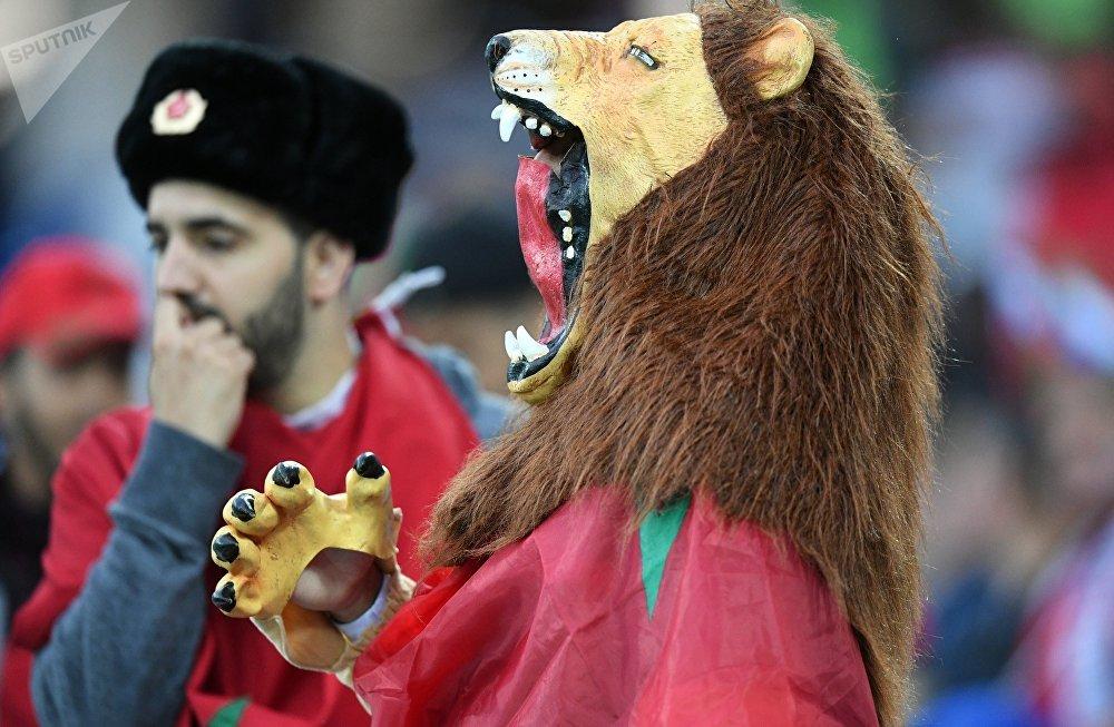 Des supporters avant le match Espagne-Maroc du Mondial 2018