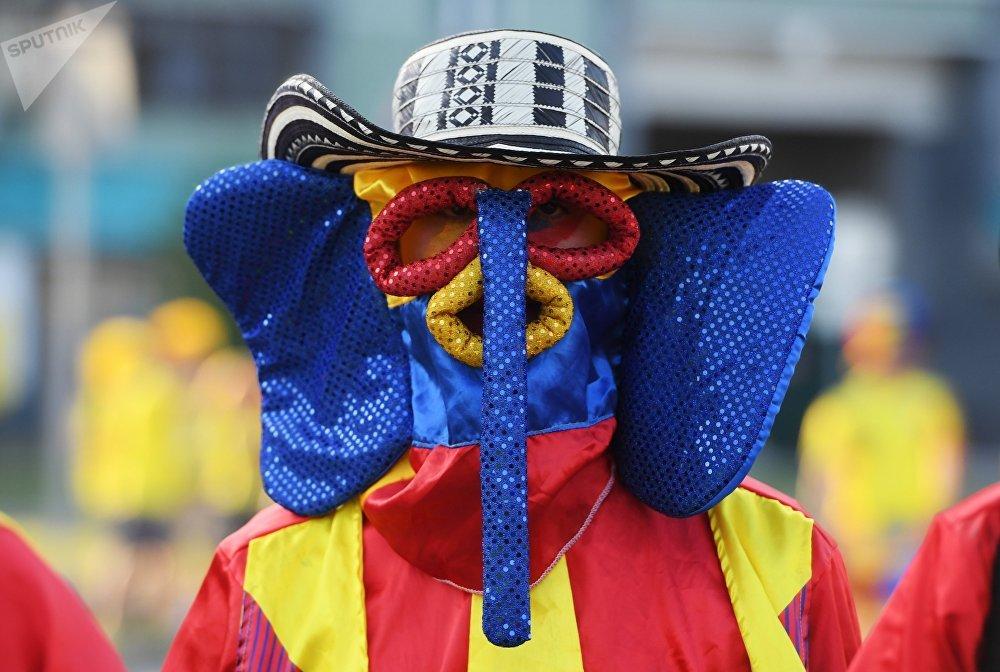 Des supporters avant le match Colombie-Pologne du Mondial 2018