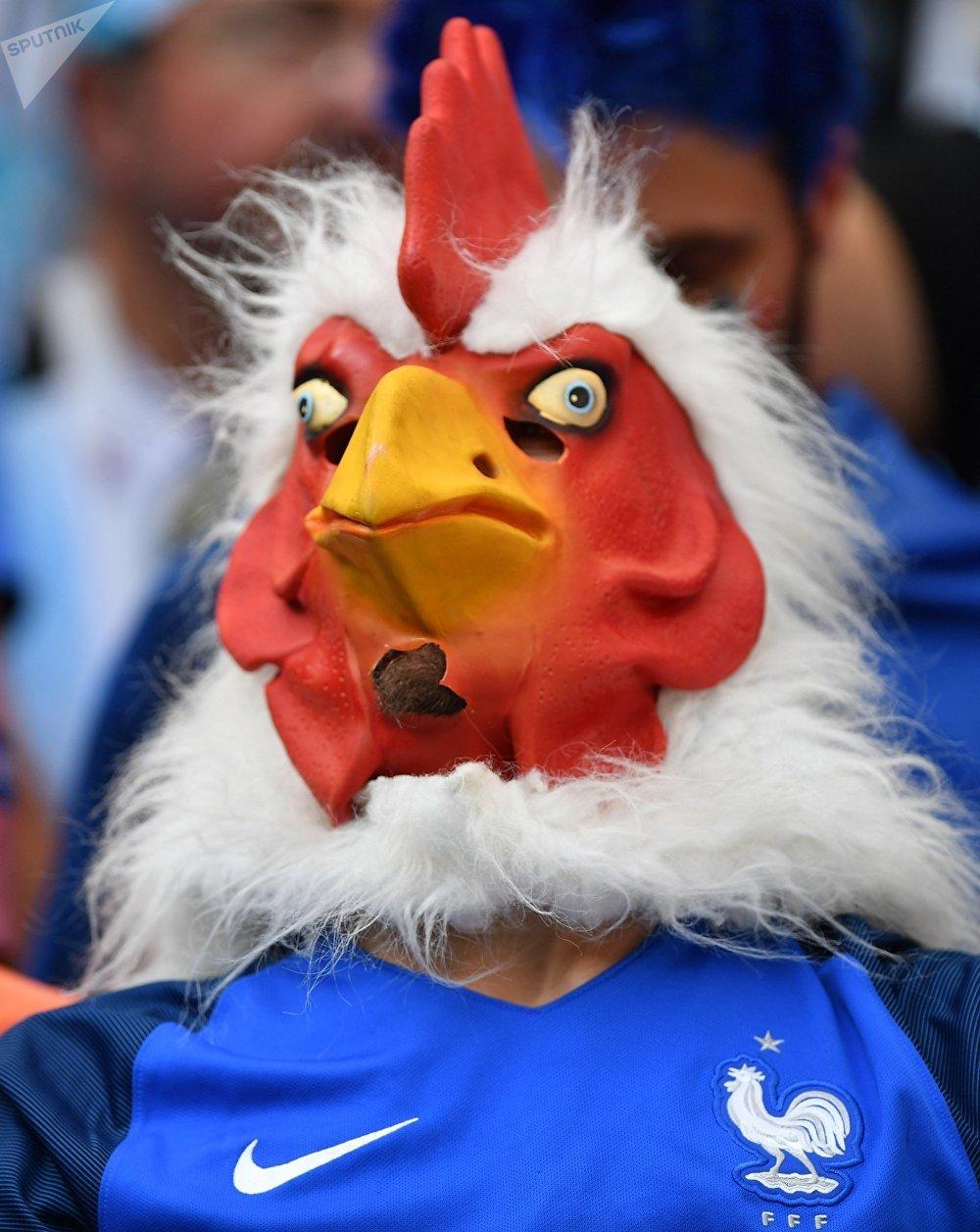 Un supporter français avant le match de huitièmes de finale France-Argentine du Mondial 2018
