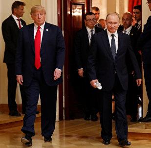 Vladimir Poutine et Donald Trump à Helsinki