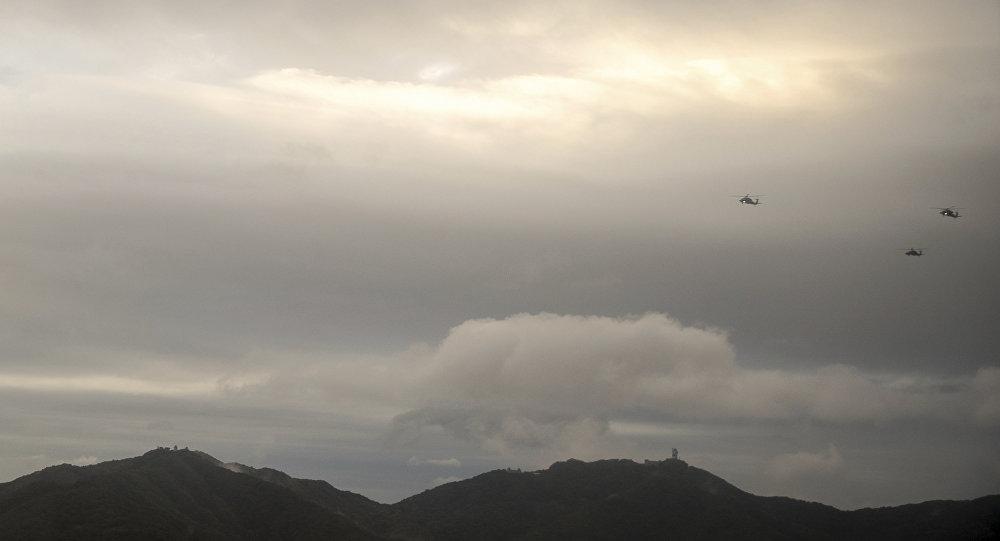 un hélicoptère militaire en Corée du Sud