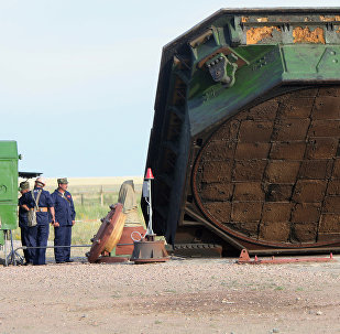 Ouverture du silo du lanceur de la fusée RS-20 dans la région d'Orenbourg