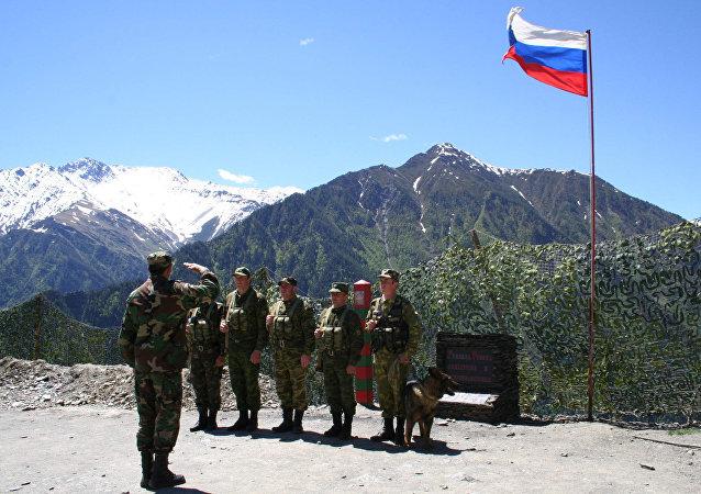 A la frontière terrestre russo-géorgienne