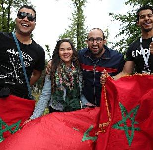 Des marocains supportant l'équipe d'Algérie durant la CAN 2019