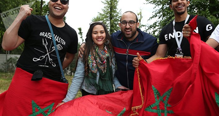 Des supporters marocains