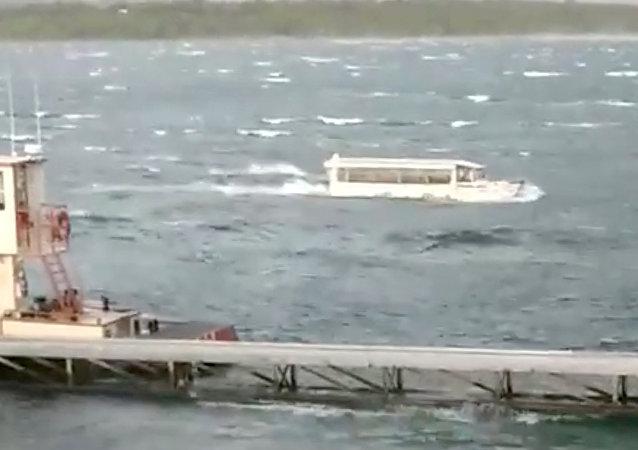 Le naufrage d'un bateau US