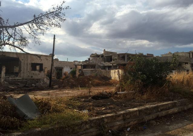 Une localité libérée de Daech dans le gouvernorat de Hama